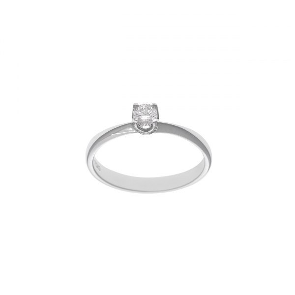 SOLITARIO DE ORO BLANCO Y BRILLNATE 0.80CT